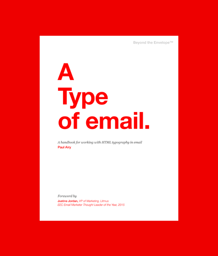 'A Type of Email' book cover.