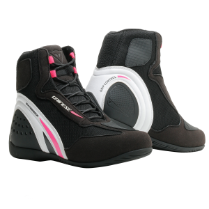 Motorshoe D1 D-WP Lady Black:White:Fuchsia