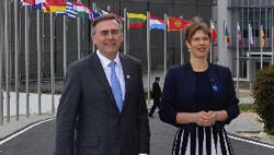 Estonian President visits the NCI Academy