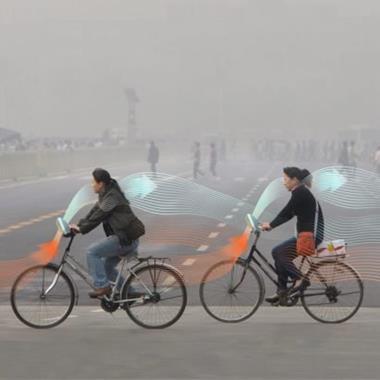 Daan Roosegaarde's Smog Free Bike would generate clean air as you pedal