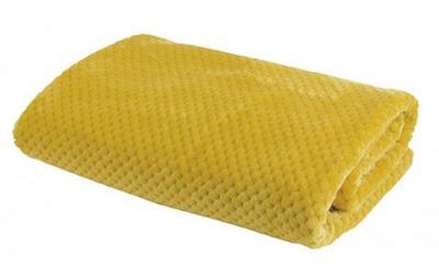 Plaid damier moutarde - Amadeus