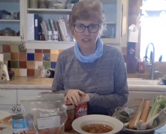 Picture of Susan Biehn Smith in her kitchen