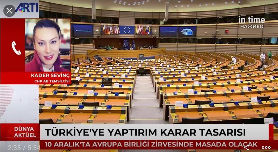 Avrupa Parlamentosu'nun Kader Sevinç'in ARTI TV'ye Yaptığı Değerlendirmeler