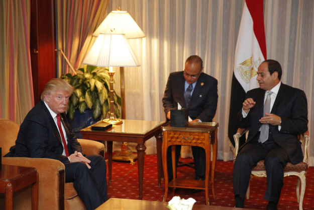 Trump and Sisi met on the sidelines of the United Nations General Assembly on Tuesday — Sisi was the only world leader Trump met with that day.