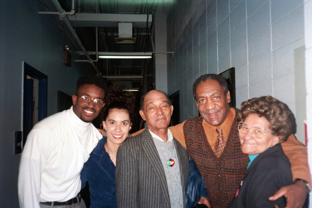 Lili Bernard (second from left) had a guest role on The Cosby Show in the early 1990s when she said Bill Cosby gained her trust, then drugged and raped her.