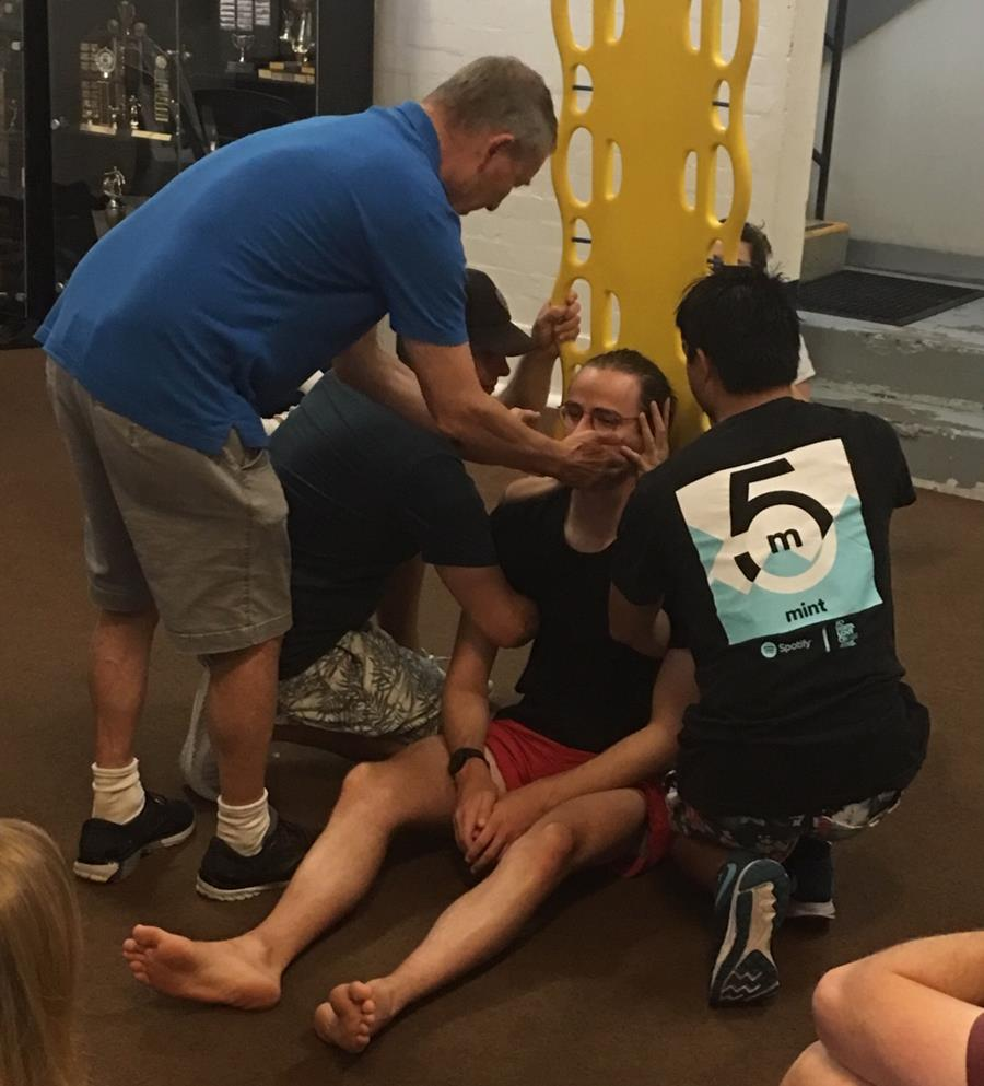 Spinal injuries training course in progress